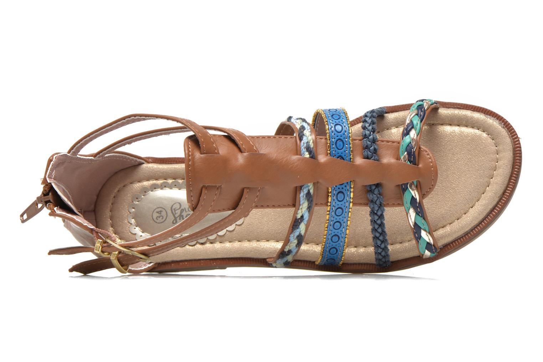 Sandales et nu-pieds I Love Shoes Tina Marron vue gauche