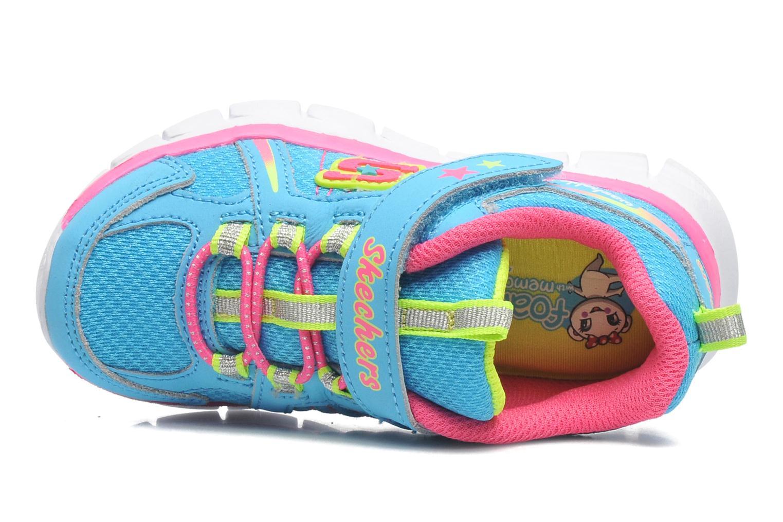 Sneaker Skechers Synergy Lovespun blau ansicht von links