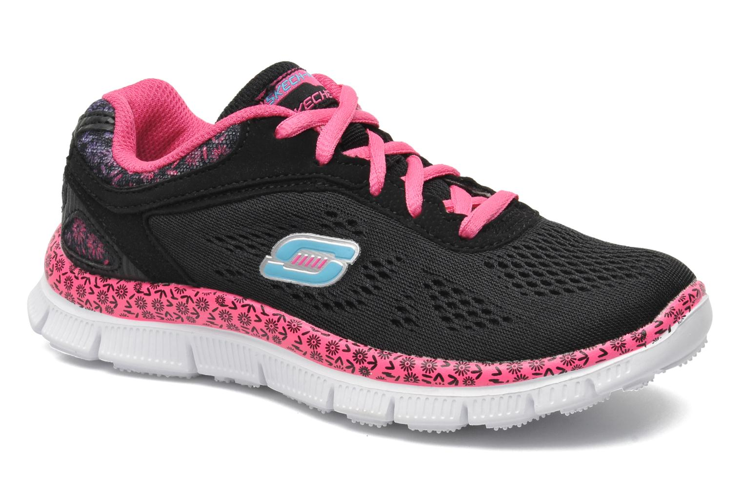 Trainers Skechers Skech Appeal Island Style Black detailed view/ Pair view