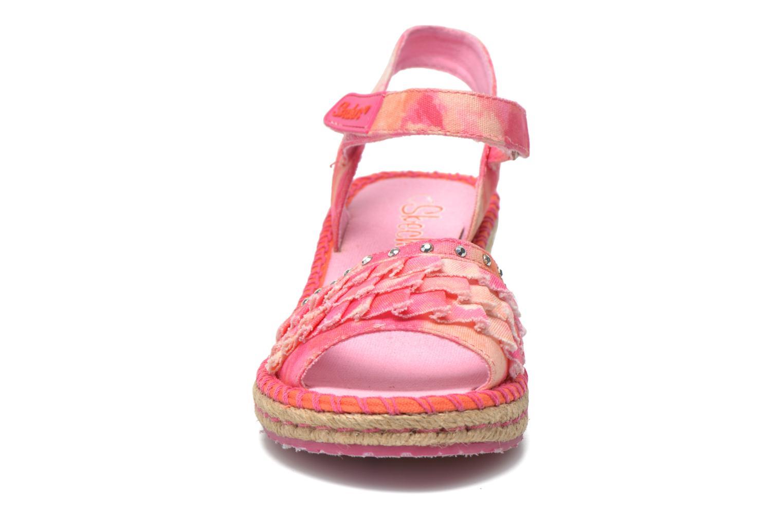 Sandales et nu-pieds Skechers TikisRuffle Ups Rose vue portées chaussures