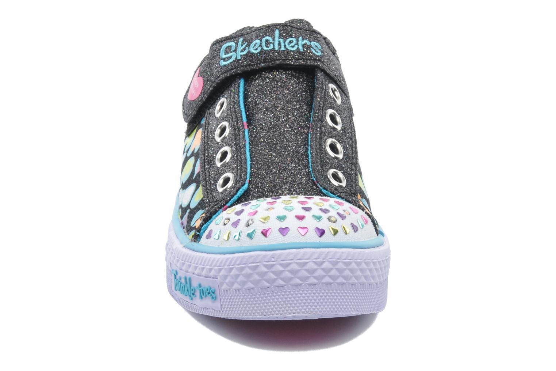 Baskets Skechers Shuffles Jumpin Hearts Multicolore vue portées chaussures