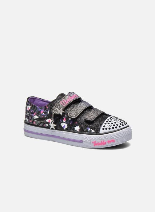 Baskets Skechers Shuffles Glitter N Glitz Noir vue détail/paire