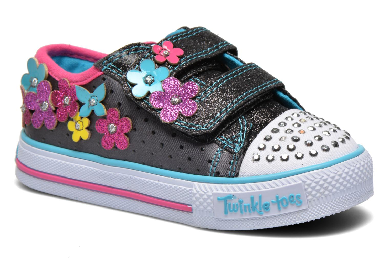 Sneaker Skechers Shuffles Pretty Blossoms schwarz detaillierte ansicht/modell