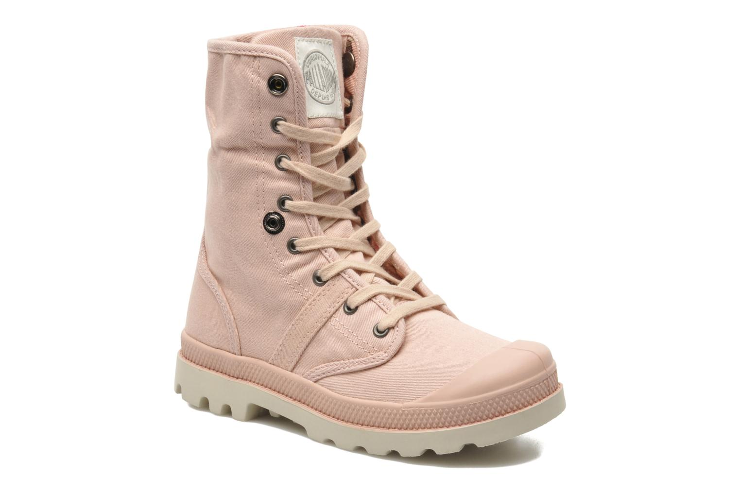 Bottines et boots Palladium Baggy Twl K Rose vue 3/4