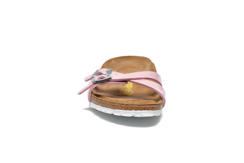 Mules et sabots Birkenstock Almere Flor W Rose vue portées chaussures