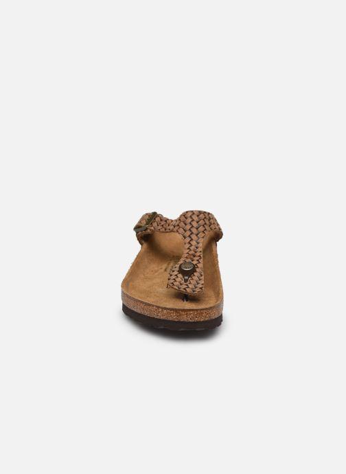 Clogs & Pantoletten Birkenstock Gizeh Cuir W braun schuhe getragen