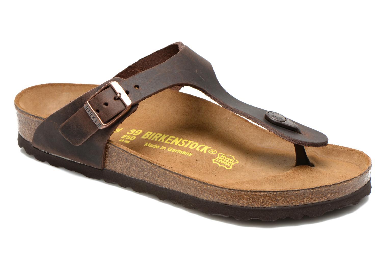 Clogs og træsko Birkenstock Gizeh Cuir W Brun detaljeret billede af skoene