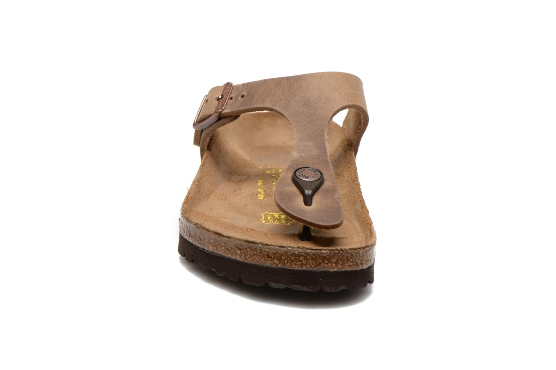 Mules & clogs Birkenstock Gizeh Cuir W Brown model view