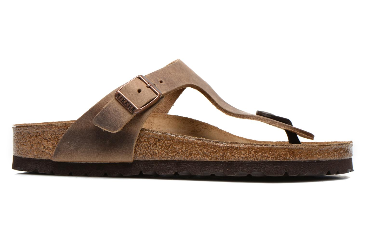 Mules & clogs Birkenstock Gizeh Cuir W Brown back view