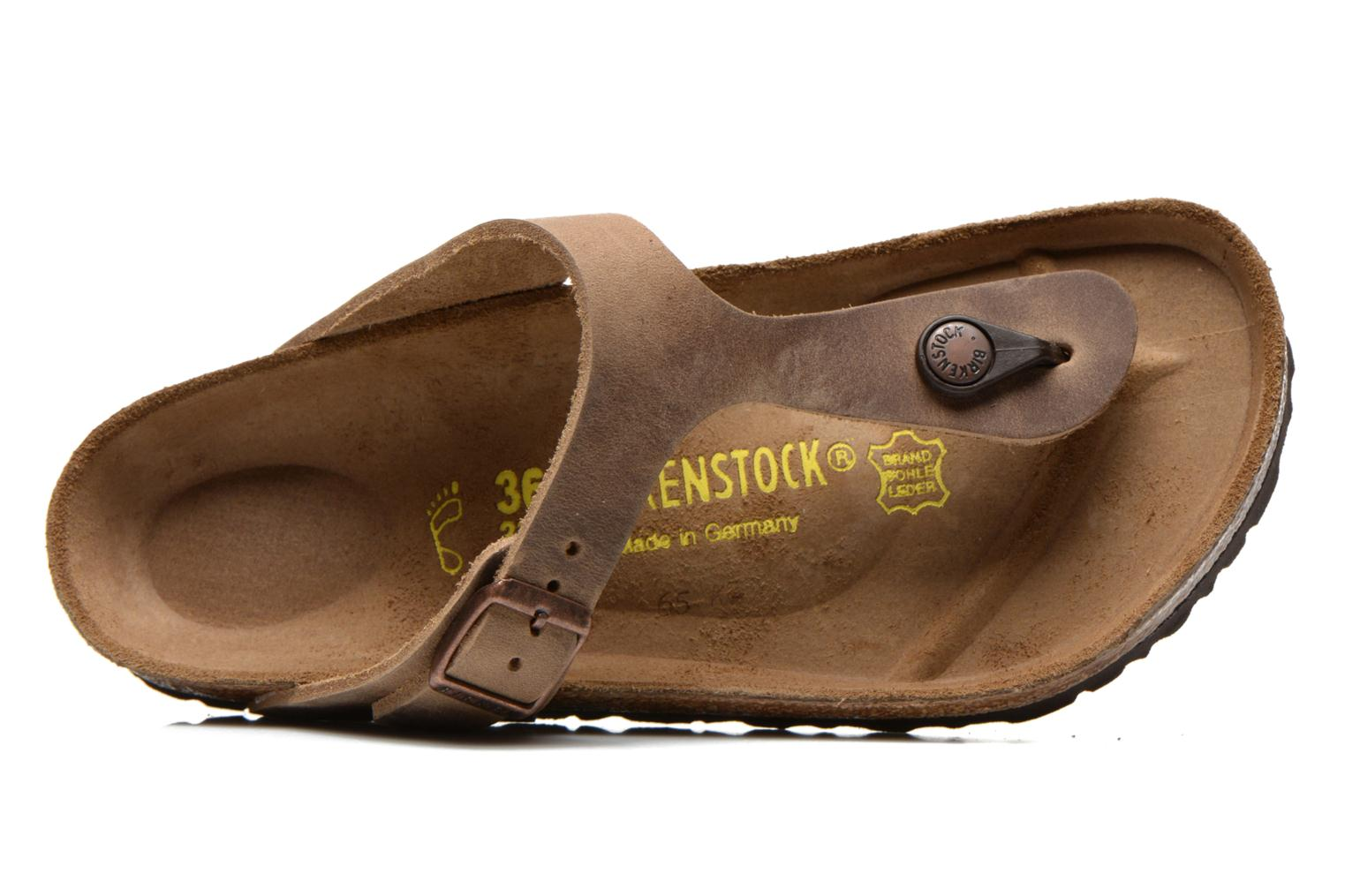 Mules & clogs Birkenstock Gizeh Cuir W Brown view from the left