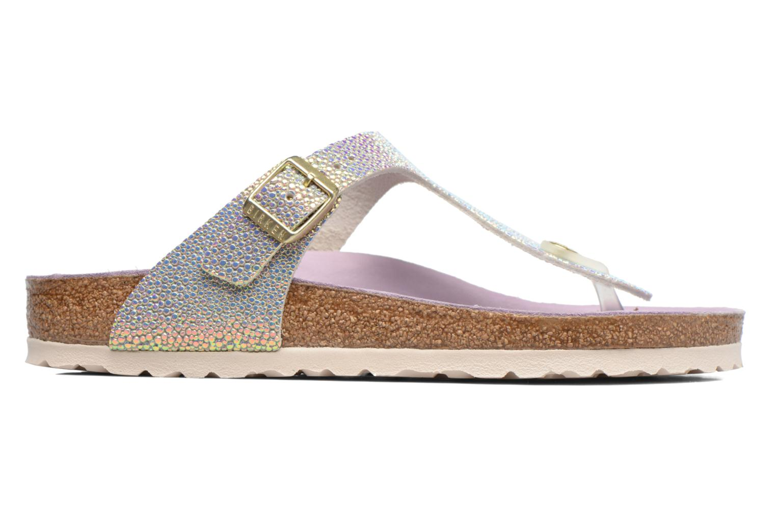 Mules & clogs Birkenstock Gizeh Cuir W Grey back view