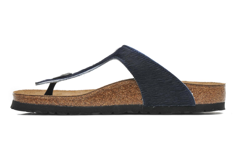 Flip flops Birkenstock Gizeh Textile Pony W Blue front view