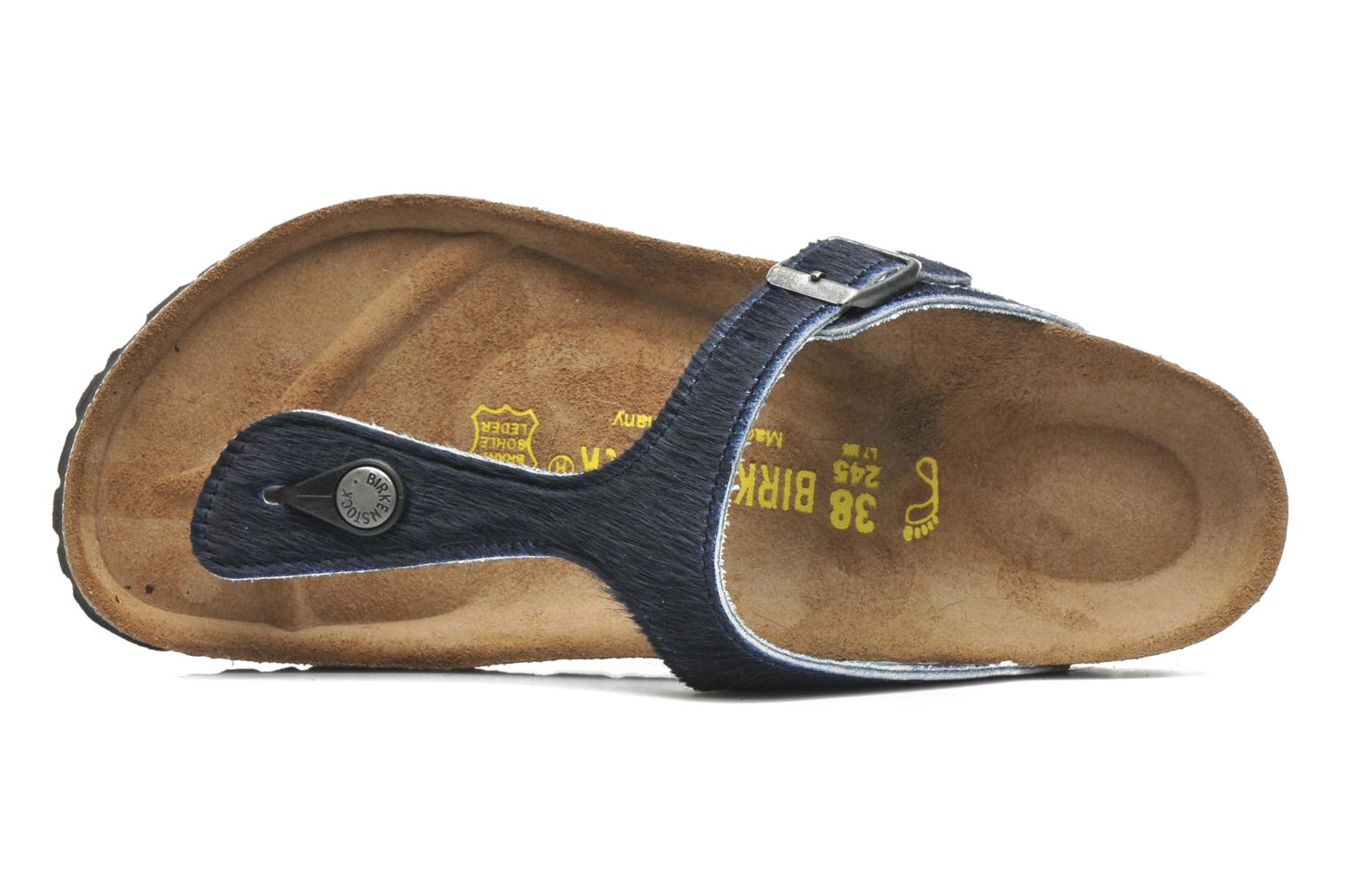Flip flops Birkenstock Gizeh Textile Pony W Blue view from the left