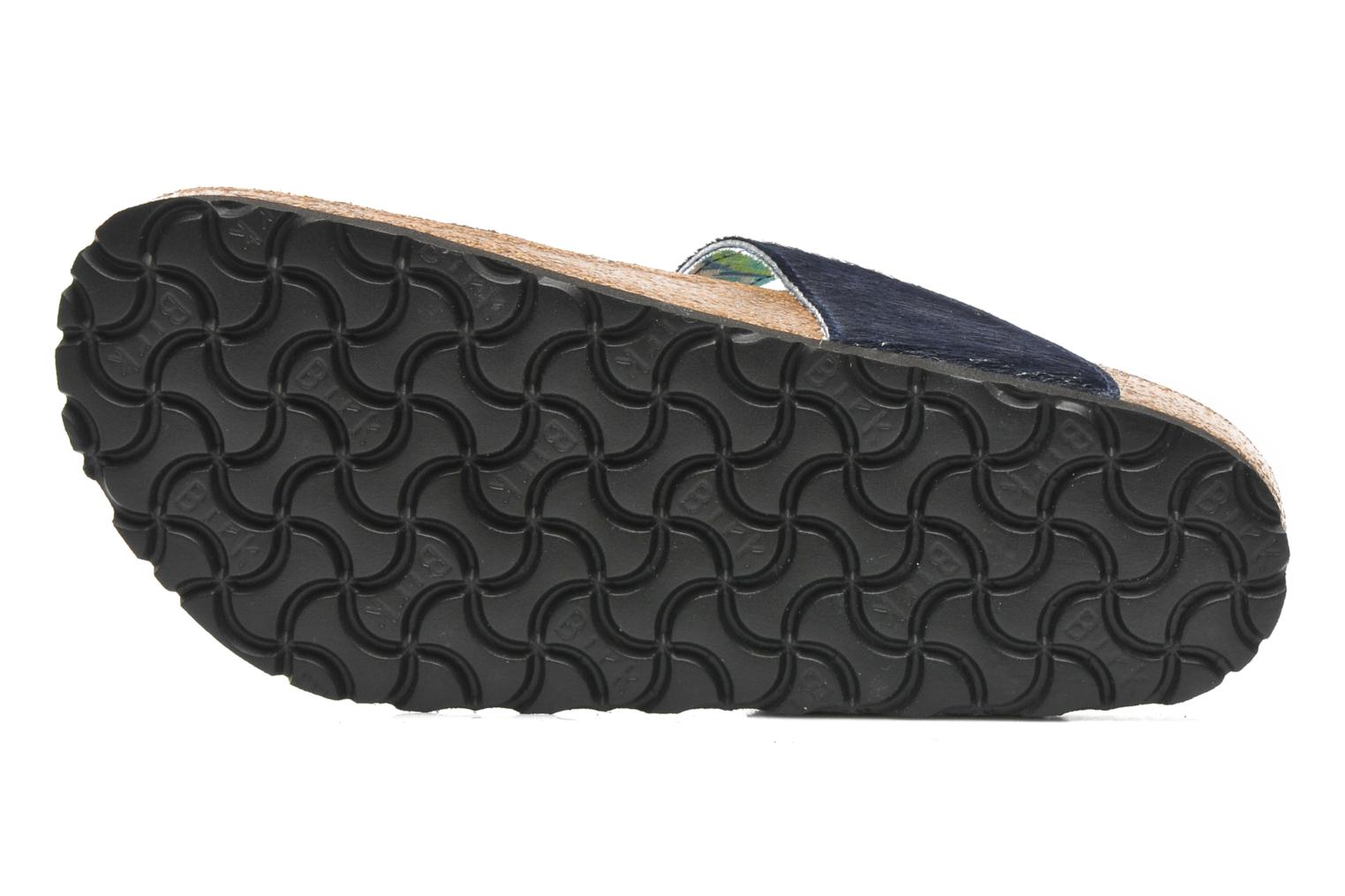 Flip flops Birkenstock Gizeh Textile Pony W Blue view from above