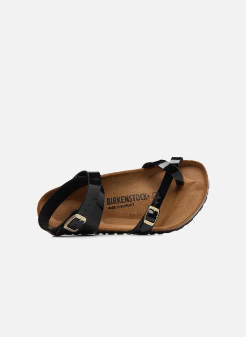 Sandales et nu-pieds Birkenstock Yara Flor W Noir vue gauche