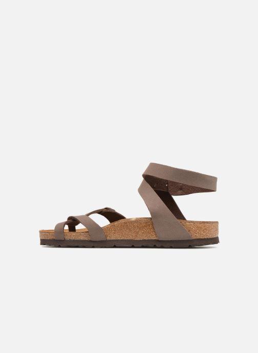 Sandales et nu-pieds Birkenstock Yara Flor W Marron vue face