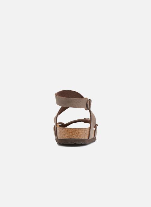 Sandales et nu-pieds Birkenstock Yara Flor W Marron vue droite