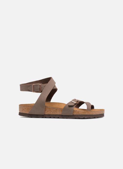 Sandales et nu-pieds Birkenstock Yara Flor W Marron vue derrière