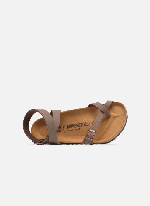 Sandales et nu-pieds Birkenstock Yara Flor W Marron vue gauche