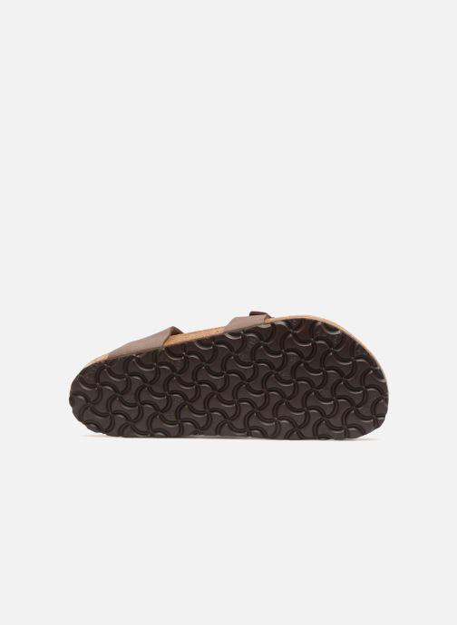 Sandales et nu-pieds Birkenstock Yara Flor W Marron vue haut