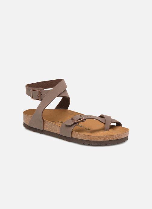 Sandales et nu-pieds Birkenstock Yara Flor W Marron vue détail/paire