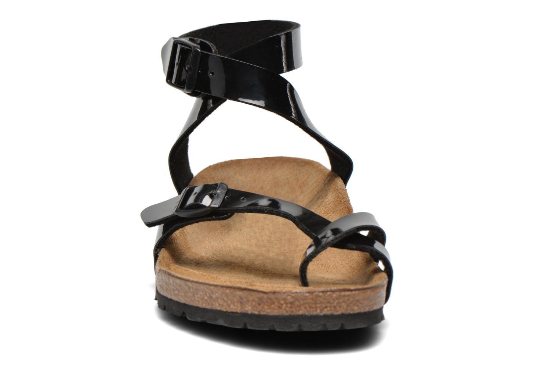 Sandals Birkenstock Yara Flor W Black model view