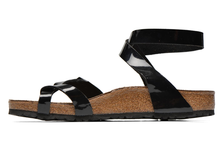 Sandals Birkenstock Yara Flor W Black front view