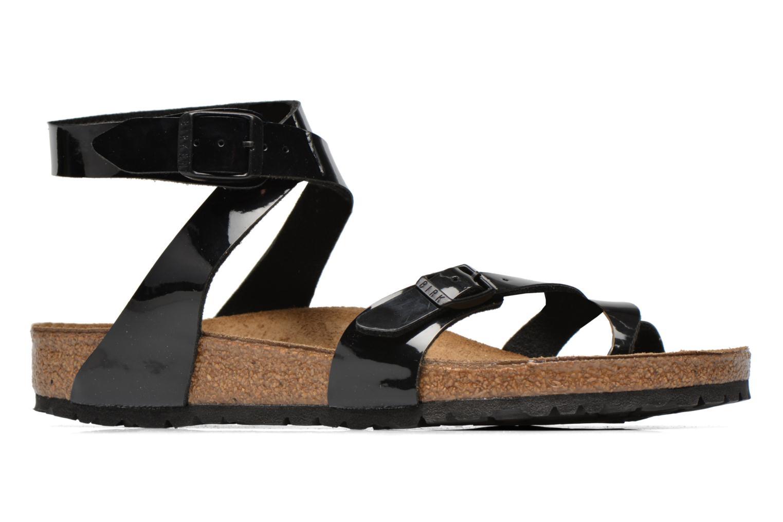 Sandals Birkenstock Yara Flor W Black back view