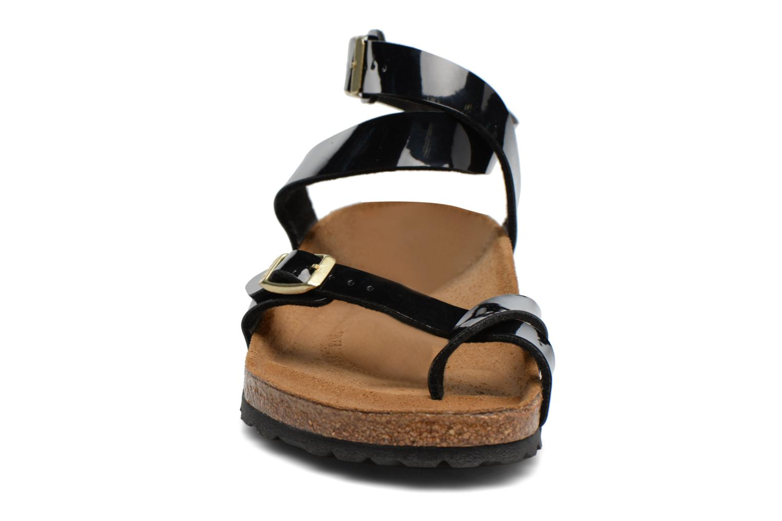 Sandals Birkenstock Yara Flor W Black model view