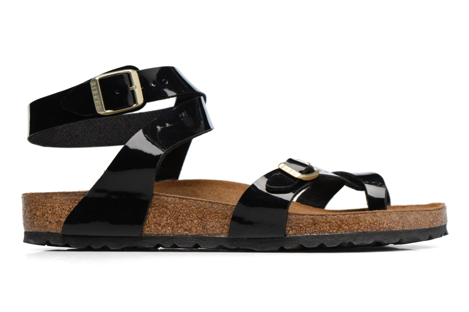 Sandals Birkenstock Yara Flor W Black back view