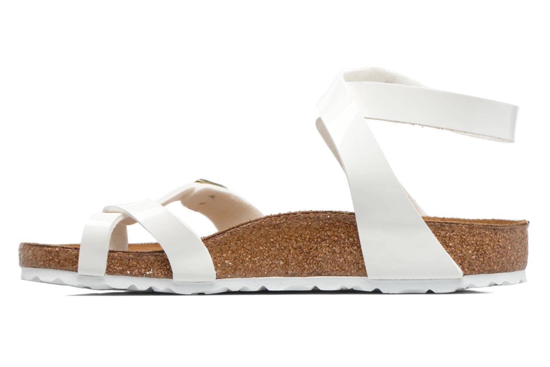 Sandales et nu-pieds Birkenstock Yara Flor W Blanc vue face