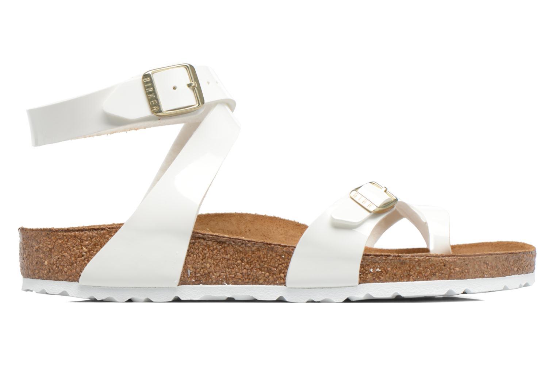 Sandales et nu-pieds Birkenstock Yara Flor W Blanc vue derrière