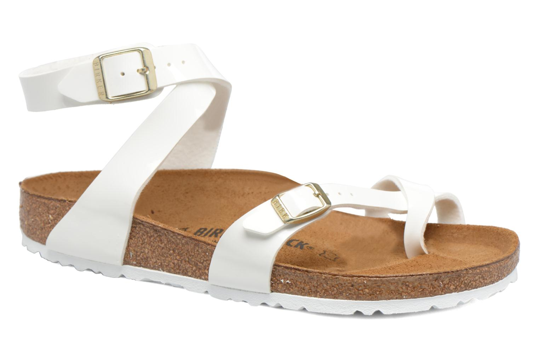 Sandales et nu-pieds Birkenstock Yara Flor W Blanc vue détail/paire