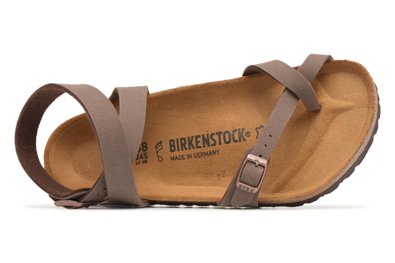 Sandalen Birkenstock Yara Flor W braun ansicht von links
