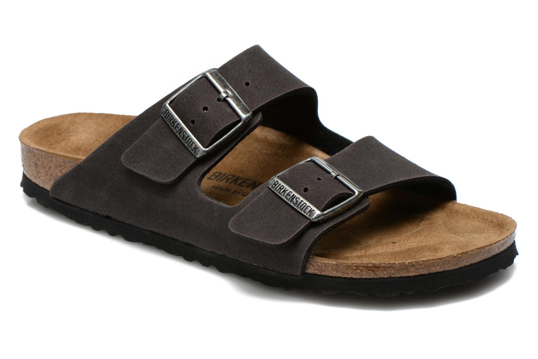 Sandales et nu-pieds Birkenstock Arizona Microfibre M Gris vue détail/paire
