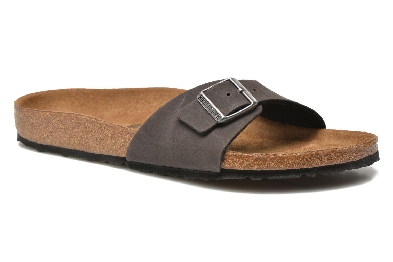 Sandales et nu-pieds Birkenstock Madrid Microfibre M Gris vue détail/paire
