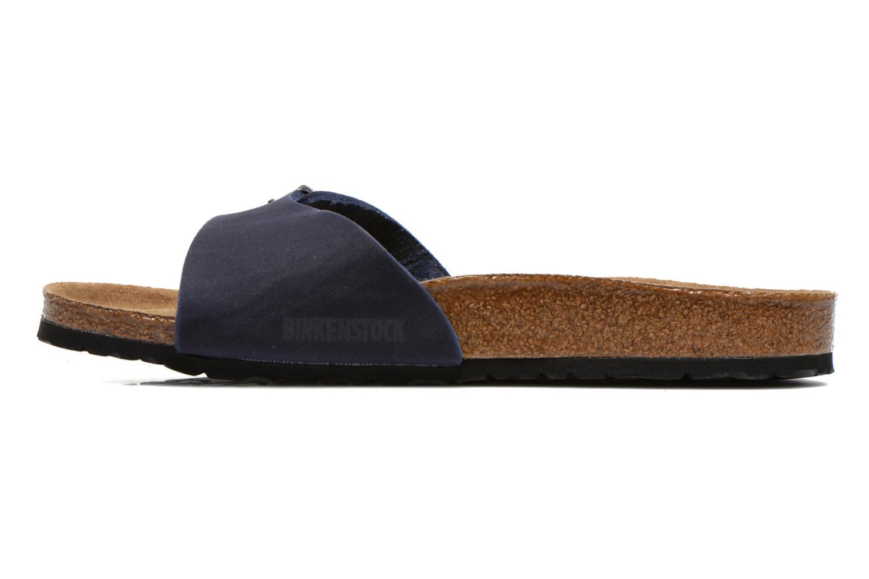 Sandales et nu-pieds Birkenstock Madrid Microfibre M Bleu vue face