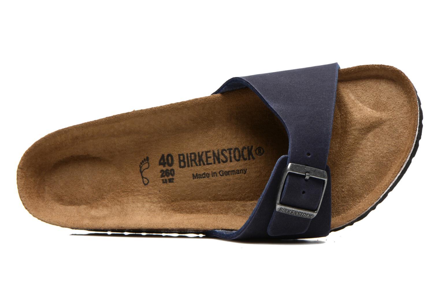 Sandales et nu-pieds Birkenstock Madrid Microfibre M Bleu vue gauche