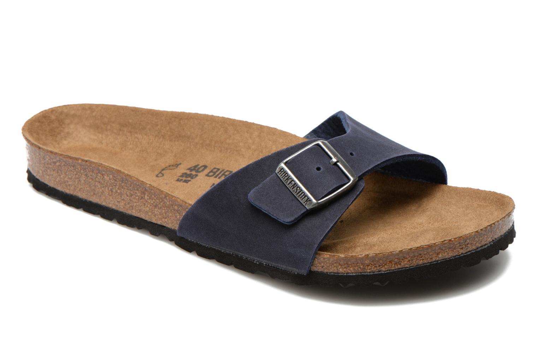 Sandales et nu-pieds Birkenstock Madrid Microfibre M Bleu vue détail/paire