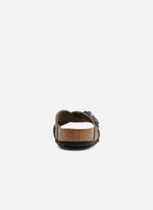 Sandales et nu-pieds Birkenstock Tunis Cuir M Gris vue droite