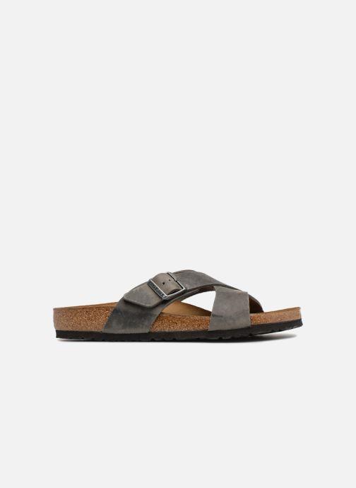 Sandales et nu-pieds Birkenstock Tunis Cuir M Gris vue derrière