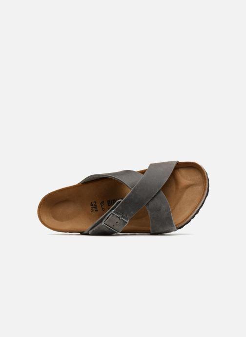 Sandales et nu-pieds Birkenstock Tunis Cuir M Gris vue gauche