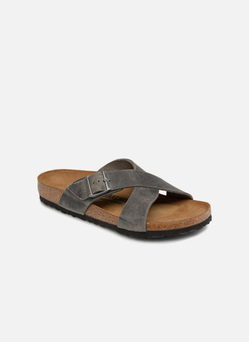 Sandales et nu-pieds Birkenstock Tunis Cuir M Gris vue détail/paire