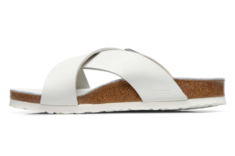 Sandales et nu-pieds Birkenstock Tunis Cuir M Blanc vue face
