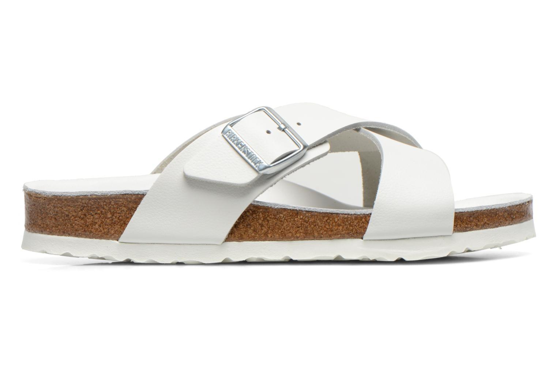 Sandales et nu-pieds Birkenstock Tunis Cuir M Blanc vue derrière