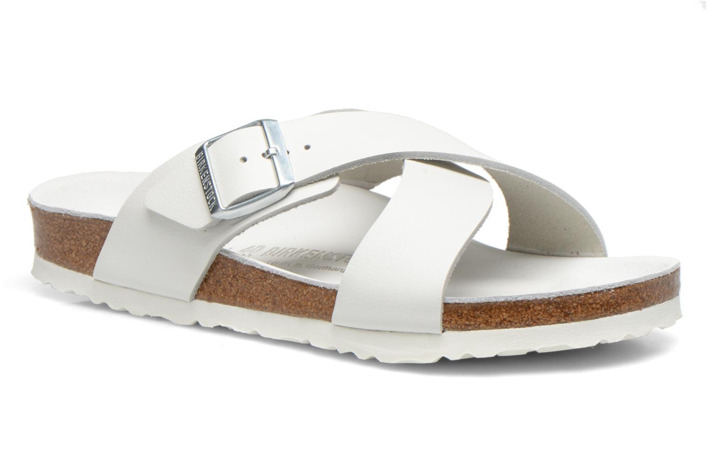 Sandales et nu-pieds Birkenstock Tunis Cuir M Blanc vue détail/paire