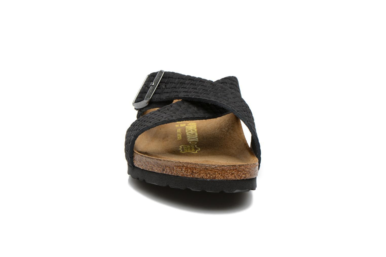 Sandales et nu-pieds Birkenstock Tunis Nubuck M Noir vue portées chaussures