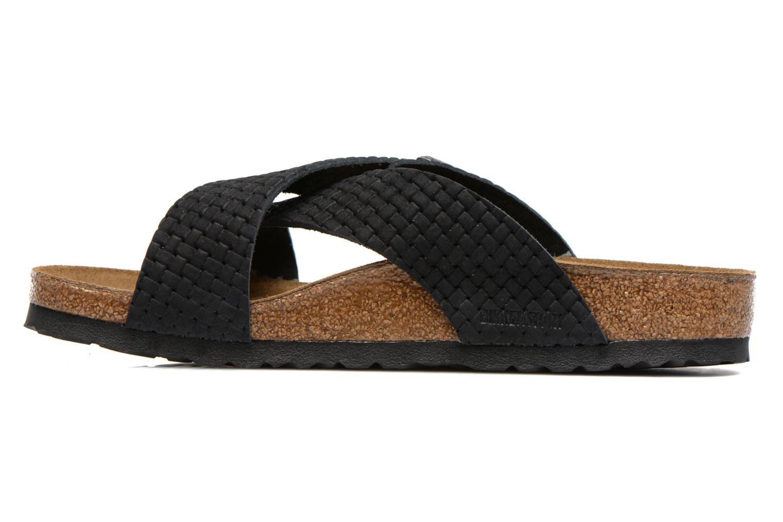 Sandales et nu-pieds Birkenstock Tunis Nubuck M Noir vue face