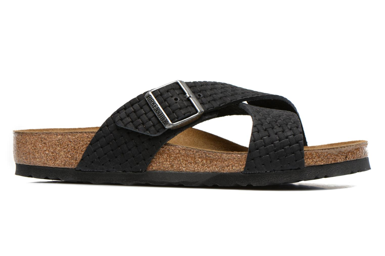 Sandales et nu-pieds Birkenstock Tunis Nubuck M Noir vue derrière