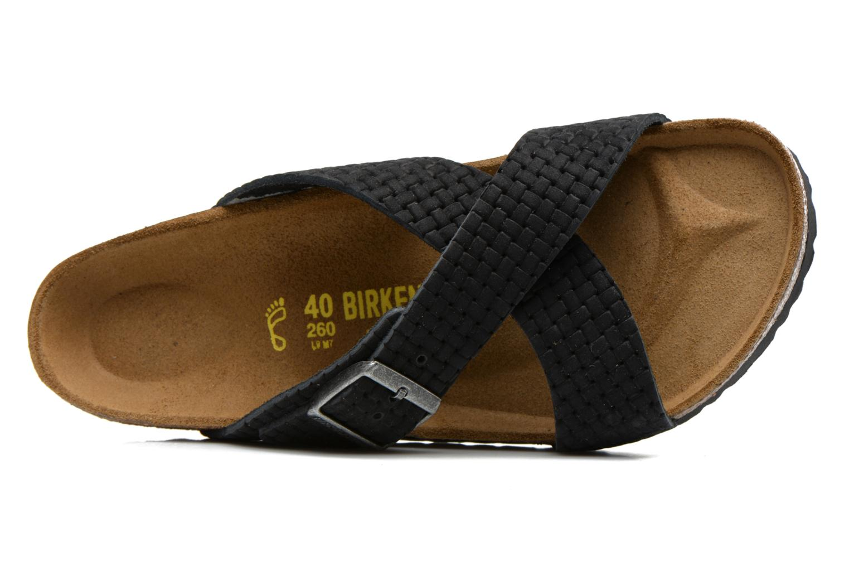 Sandales et nu-pieds Birkenstock Tunis Nubuck M Noir vue gauche